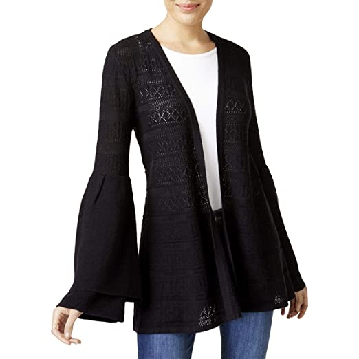 Style Co Womens Bell Sleeves Knit Cardigan Sweater At Amazon