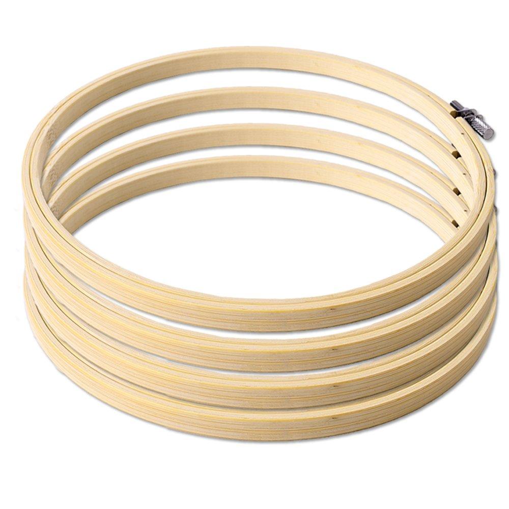 TE-DecoArt TE stick telaio Set LEGNO ANELLO RICAMO ricamo punto croce ANELLI EMBRODERY Hoop 20 cm diametro MESTIERE accessori - 6 TE-Importe