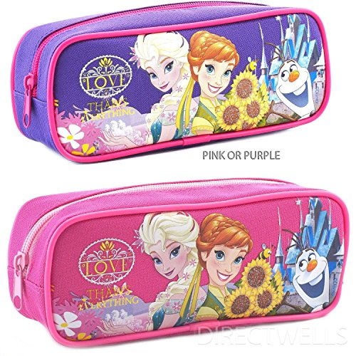 "Disney Frozen Character "" Love "" Pink or Purple Pencil Case"