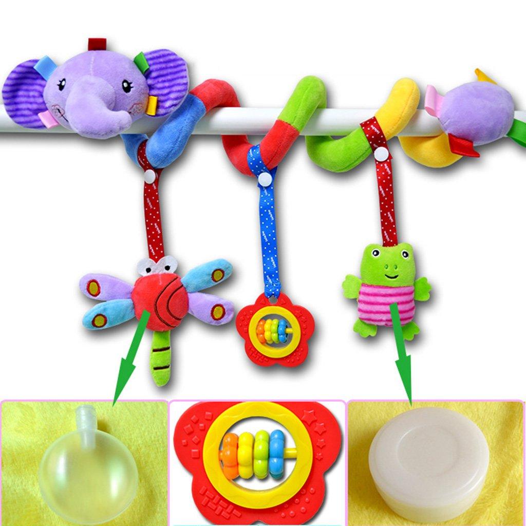 Cerf de bouche jaune MagiDeal Jouet de Poussette Jouet Animale En Peluche Spirale dActivit/és Hanging Jouets Multicolore Cadeau Anniversaire F/ête pour B/éb/é