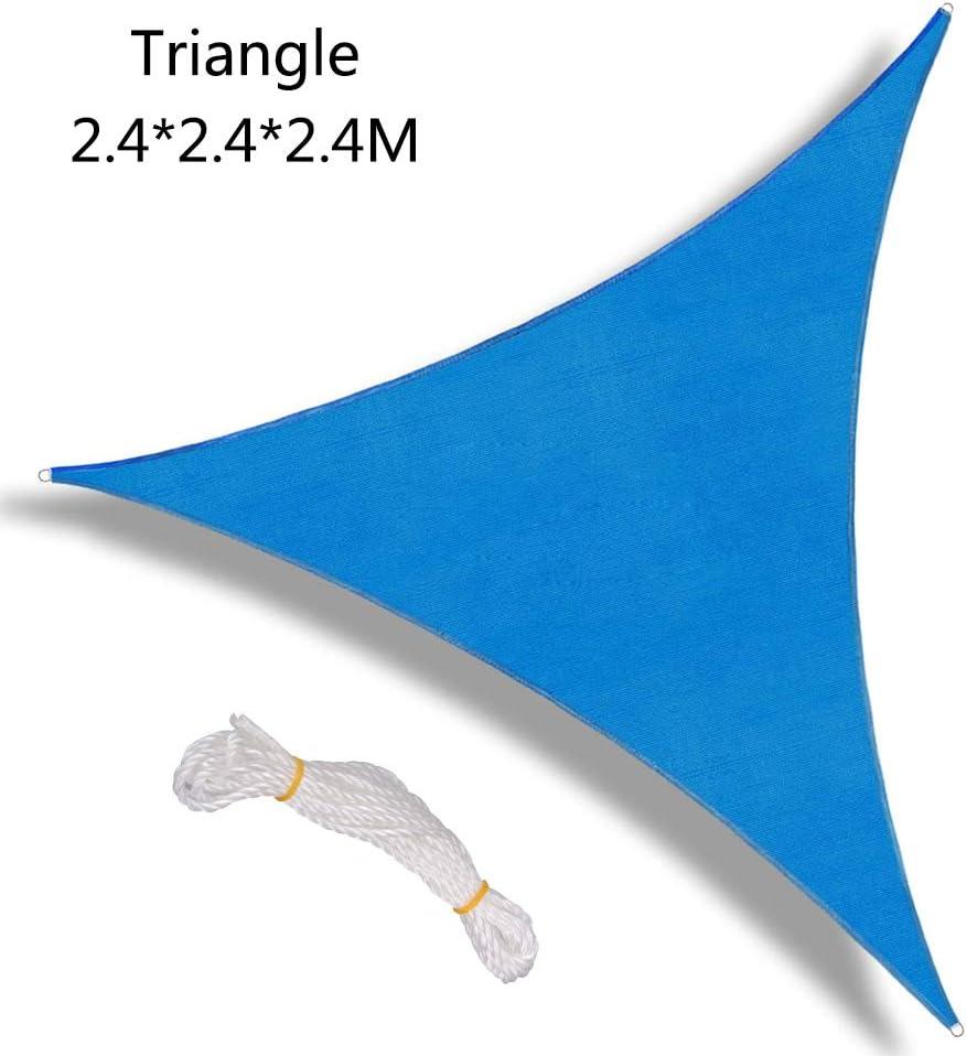 strutture Esterne e attivit/à Seika Tenda Parasole in Tessuto Resistente per Patio 2,4 x 2,4 x 2,4 m Tenda a Vela Triangolare Impermeabile Giardino Blue 8 x 8 x 8 ft