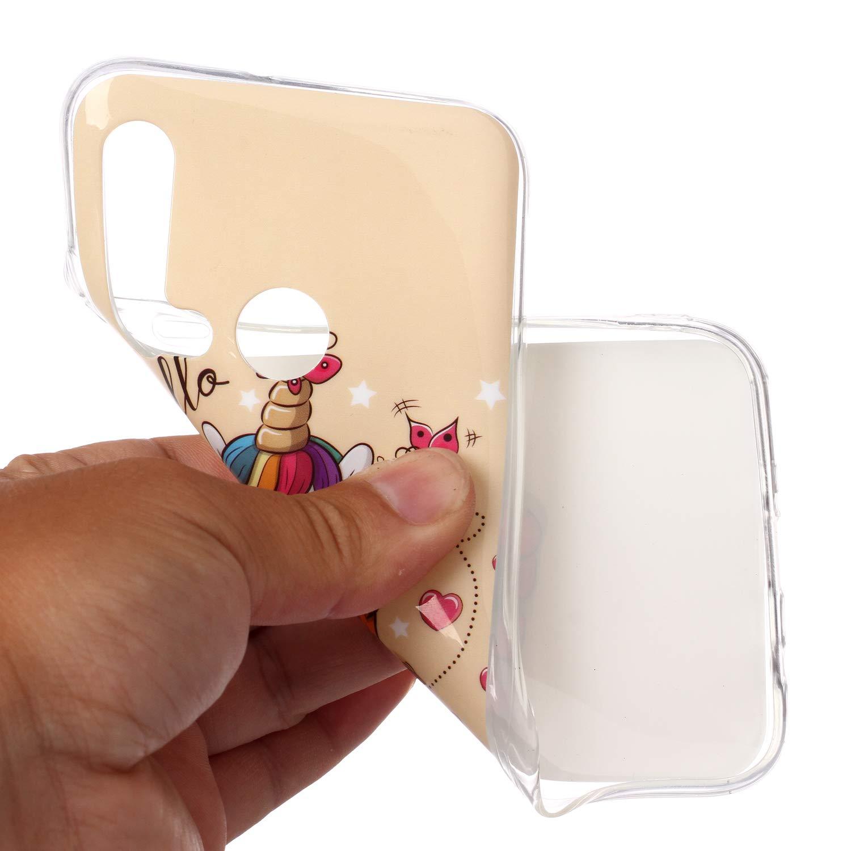 DasKAn Weich Silikon H/ülle f/ür Huawei P20 Lite mit S/ü/ße Tiere Pferd Karikatur Muster Ultra D/ünn Gummi R/ückseite Handy Tasche Sto/ßfest Kratzfest Flexibel Gel TPU Schutzh/ülle,#4
