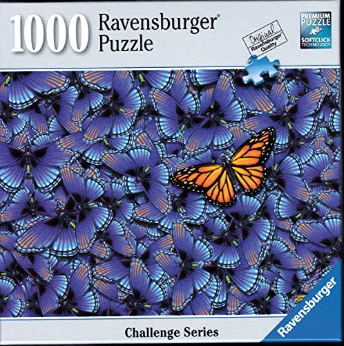 Challenge 1000 Piece Puzzle - Ravensburger Butterfly Challenge 1000 Piece Puzzle
