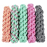 Unique Toys Pet Cotton Rope Knotted Dog Puppy Tug Fun Play Super Tough Toy 4 Healthy Gums,Sent by Random Color