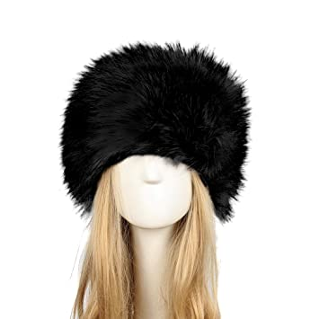 Image Unavailable. Image not available for. Color  Old DIrd Women s Winter  Faux Fur Hat Russian Cossack Style ... 901c1eb9f292