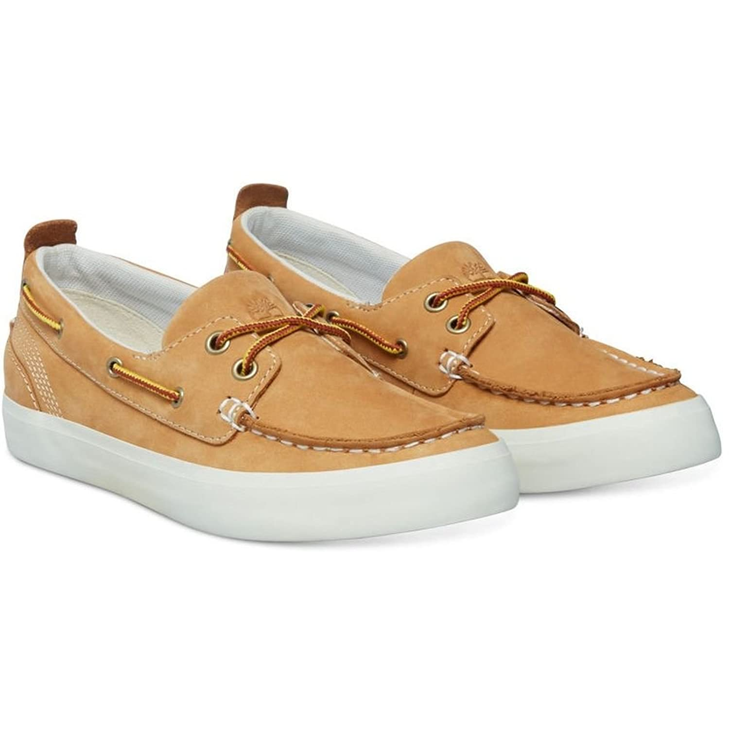 Timberland CA15T5 Women's Brattleboro Boat Shoe, Color: Beige, Size: 6.5(W)  US: Amazon.ca: Shoes & Handbags