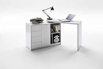 martin 2 in 1 home office desk space saving desk and sideboard combination modern