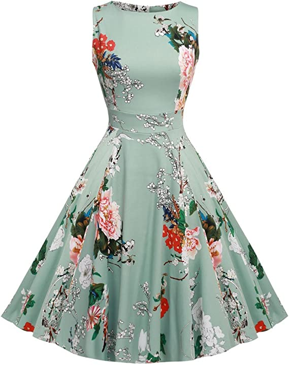 Free Amazon Promo Code 2020 for Vintage Floral Party Cocktail Dress