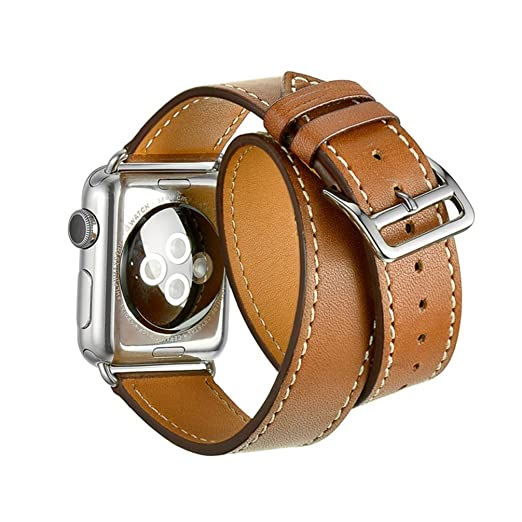 24 opinioni per Cinturino Apple Watch,SUNDAREE®42mm Vera Pelle Strap Wrist Band Orologio