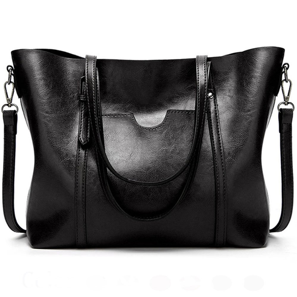 FiveloveTwo Donna Borsa a Mano Spalla Tracolla per PU Pelle Tote Maniglia Cartella Messaggero Borsa Shoulder Bag