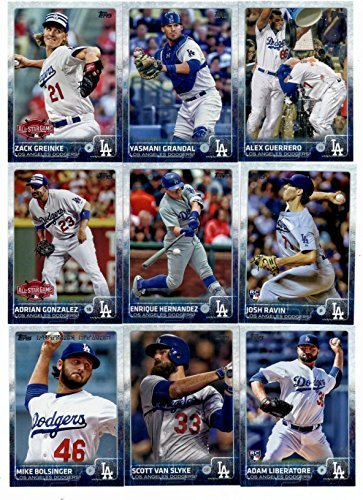 2015-topps-baseball-cards-los-angeles-dodgers-complete-master-team-set-series-1-2-update-45-cards-in