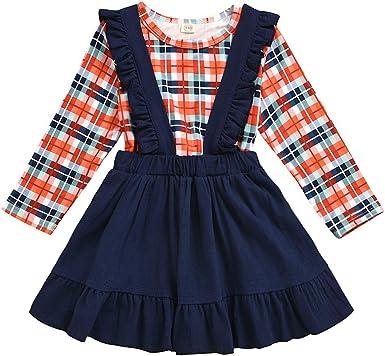 Heetey - Falda de Manga Larga para niños pequeños, para bebé, niña ...