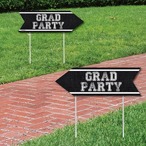 Big Dot of Happiness All Star Grad - Graduation Party Sign Arrow - Double Sided Directional Yard Signs - Set of (Party Directional Sign)