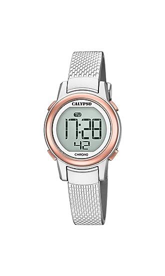 Calypso Reloj Digital para Mujer de Cuarzo con Correa en Plástico K5736/2: Amazon.es: Relojes