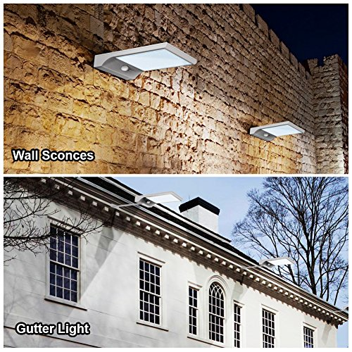 Innogear Solar Gutter Lights Wall Sconces With Mounting