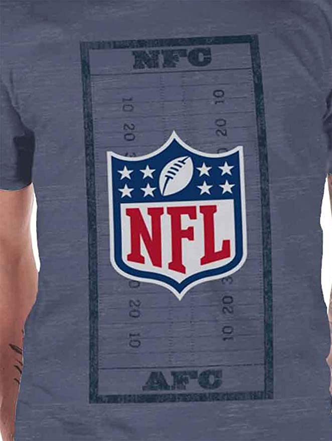 26b1f44c1 NFL T Shirt Field Shield AFC Logo Official Mens Blue XL  Amazon.co.uk   Clothing