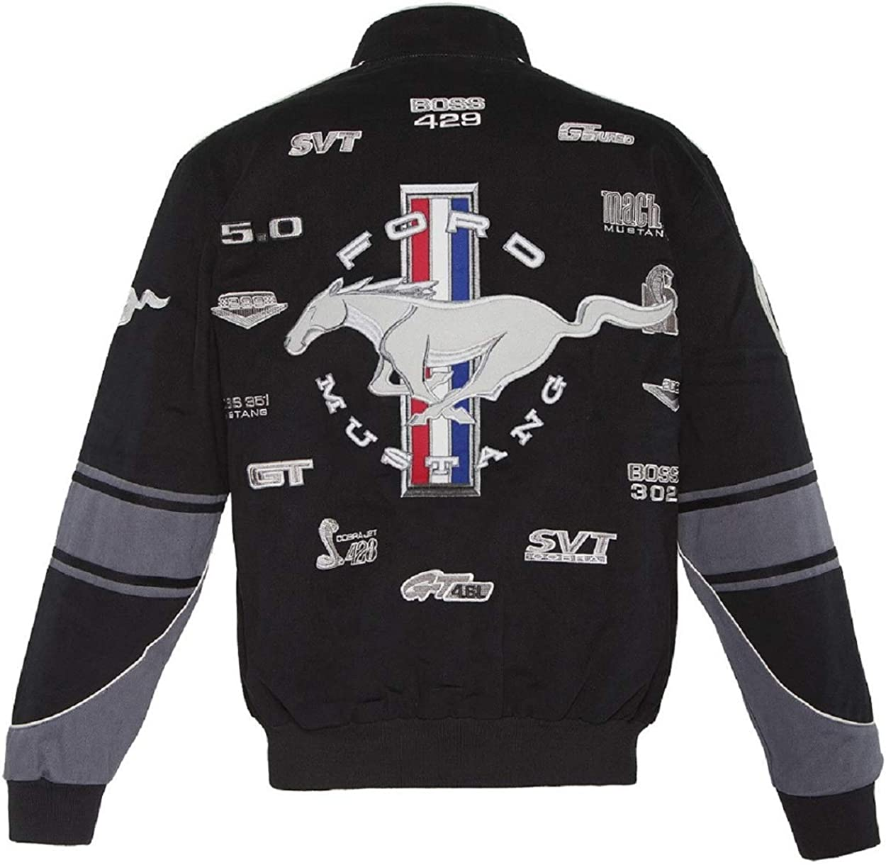 Mustang Racing Cotton Embroidered Jacket Black JH Design XLarge