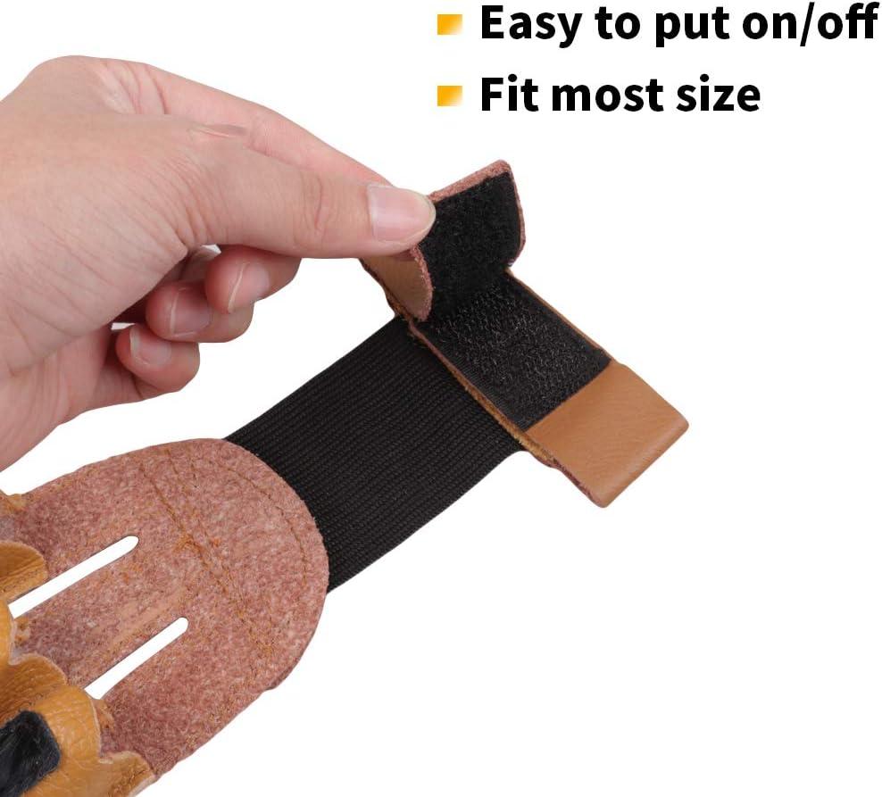 Magarrow Archery Glove Finger Tab Gloves Protector for Shooting Arrow