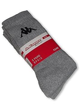 Kappa Calcetines de deporte hombre Juego de 3, gris