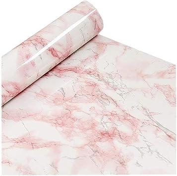 Amazon.com: Rosa con fondo blanco papel de contacto película ...