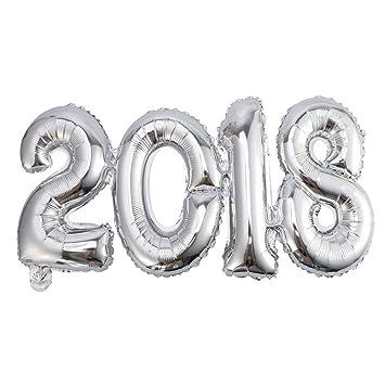 2018 Globos De Papel De Aluminio Globos De Decoracion De Numeros