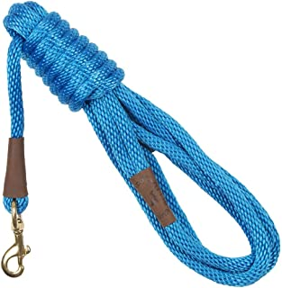 product image for Mendota Pet Long Snap Leash - Dog Training Lead - Made in The USA - Blue, 3/8 in x 15 ft