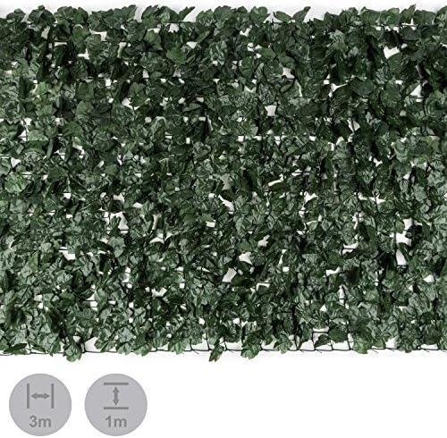 Blumfeldt Fency Dark Ivy Valla de protección Visual antiviento (Malla sombreo 300x100cm, Cubierta Exterior sombreadora, privacidad balcón terraza jardín, decoración imitación Hiedra Verde Oscuro): Amazon.es: Jardín