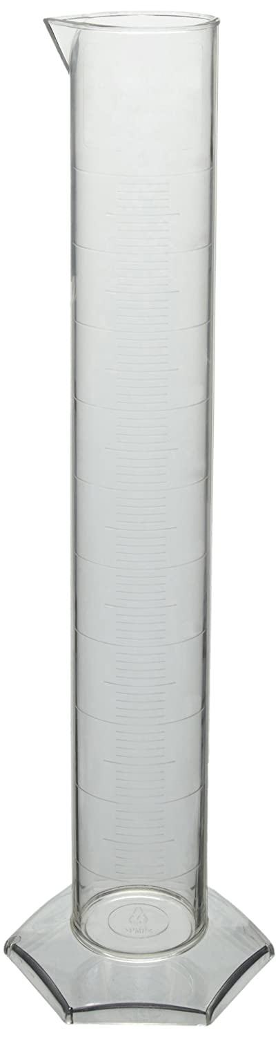 Top Azlon 237885 Polymethylpentene Plastic Class B Graduated Cylinder, 500mL Capacity for cheap