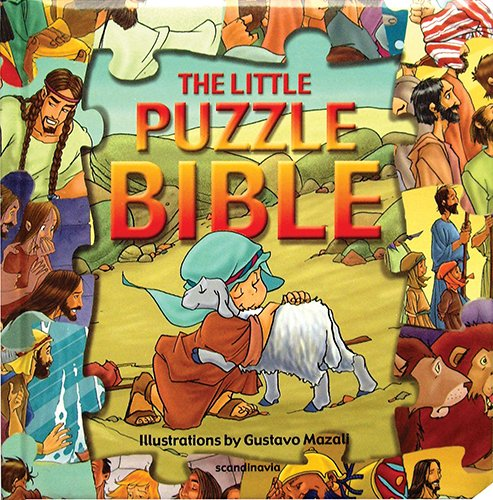 Little Puzzle Bible-Puzzles-Little Jigsaw Bible- Bible Story Book for Children Bible Games for Children-Bible Games for Kids- Fun Games for Kids-Bible ... Hard Cover (Puzzle Bible Books)