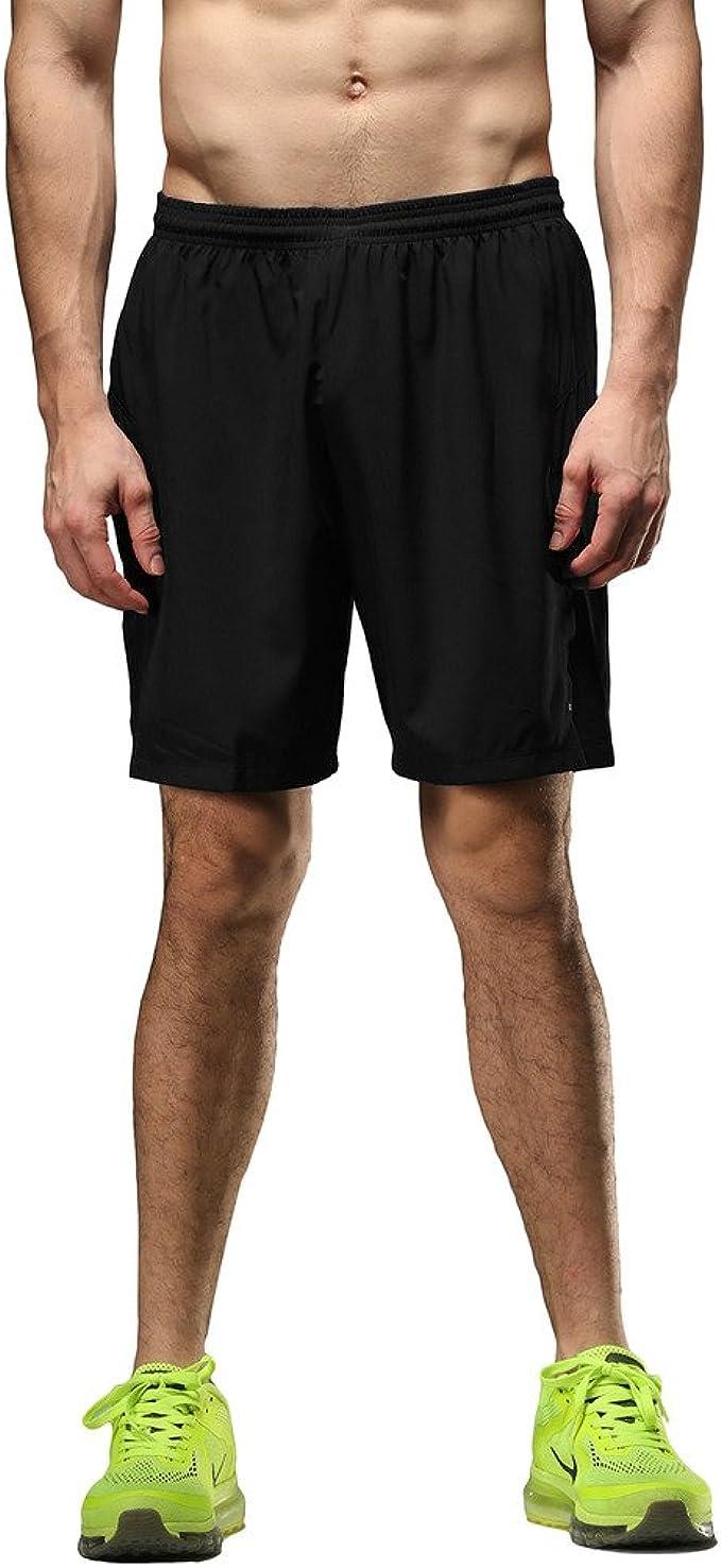 Laufshorts Kurz Sporthose 2 in 1 Laufhose f/ür Running Fitness MEETWEE Sport Shorts Herren