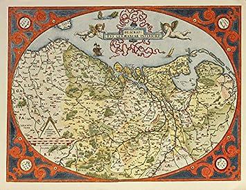 Abraham Ortelius Poster Kunstdruck Bild Descrip Tio Germaniae
