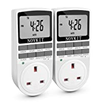 Digital Electrical Plug in Timer Socket 24 Hours / 7 Day Weekly Programmable Light Switch with Anti-Theft Random Mode