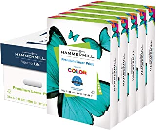 product image for Hammermill Printer Paper, Premium Laser Print 24 lb, 11 x 17-5 Ream (2,500 Sheets) - 98 Bright, Made in the USA