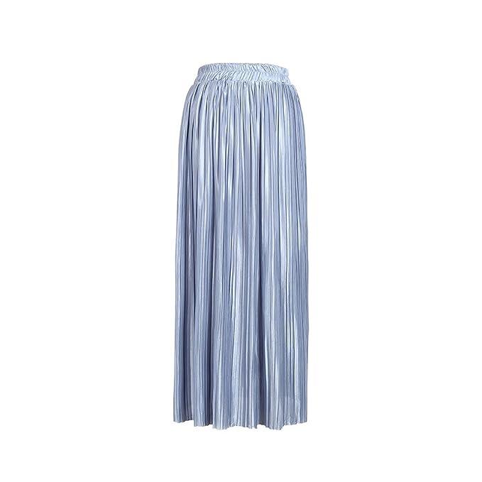 1cd80e7ee Oudan Falda Plisada Elegante de una Línea de Mujeres Falda Midi de ...