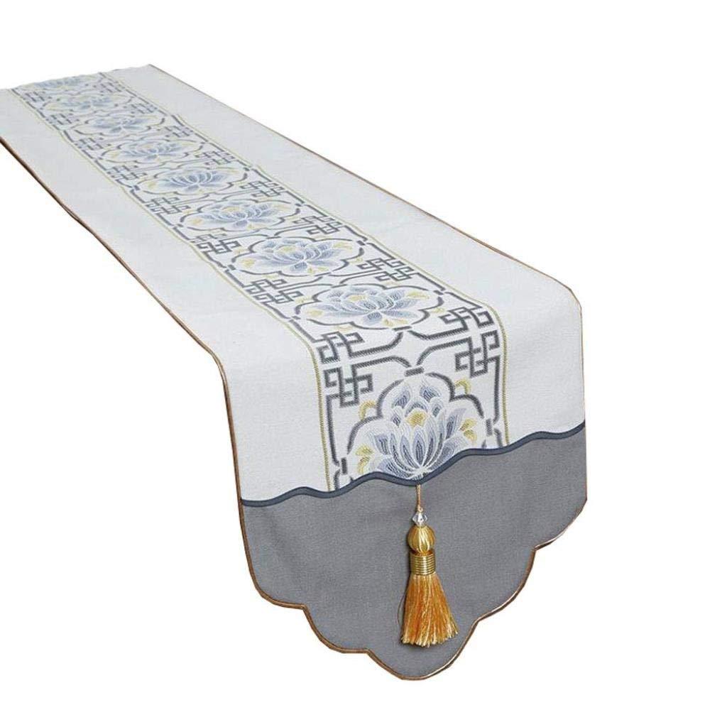 テーブルクロス中国の古典的なテーブルフェンスダイニングテーブルテレビキャビネットコーヒーテーブル靴のキャビネットベッドタオル家の装飾ロングテーブルクロステーブルフラグ (色 : A, サイズ さいず : 34x260cm) 34x260cm A B07R718MB8