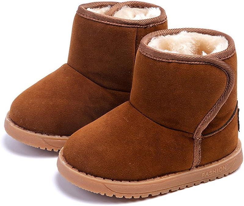 Axinke Toddlers Little Kids Winter Warm Faux Fur Anti-slip Ankle Boots