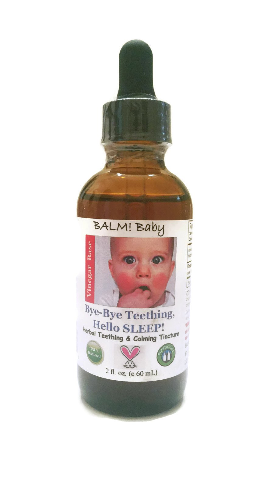BALM! Baby Bye-Bye Teething Hello SLEEP! Natural Teething Tincture - 2oz (Single, Apple Cider Vinegar)