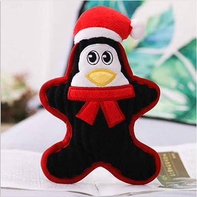 AJBB Kawaii Plush Toys, Pet Toys Plush Penguin Snowman Santa, Pet Doll Toys Gifts 22Cm: Productos para mascotas