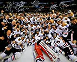 2013 Blackhawks Team Signed Autographed Stanley Cup Champs 16x20 Photo - 8 Signatures TRISTAR COA