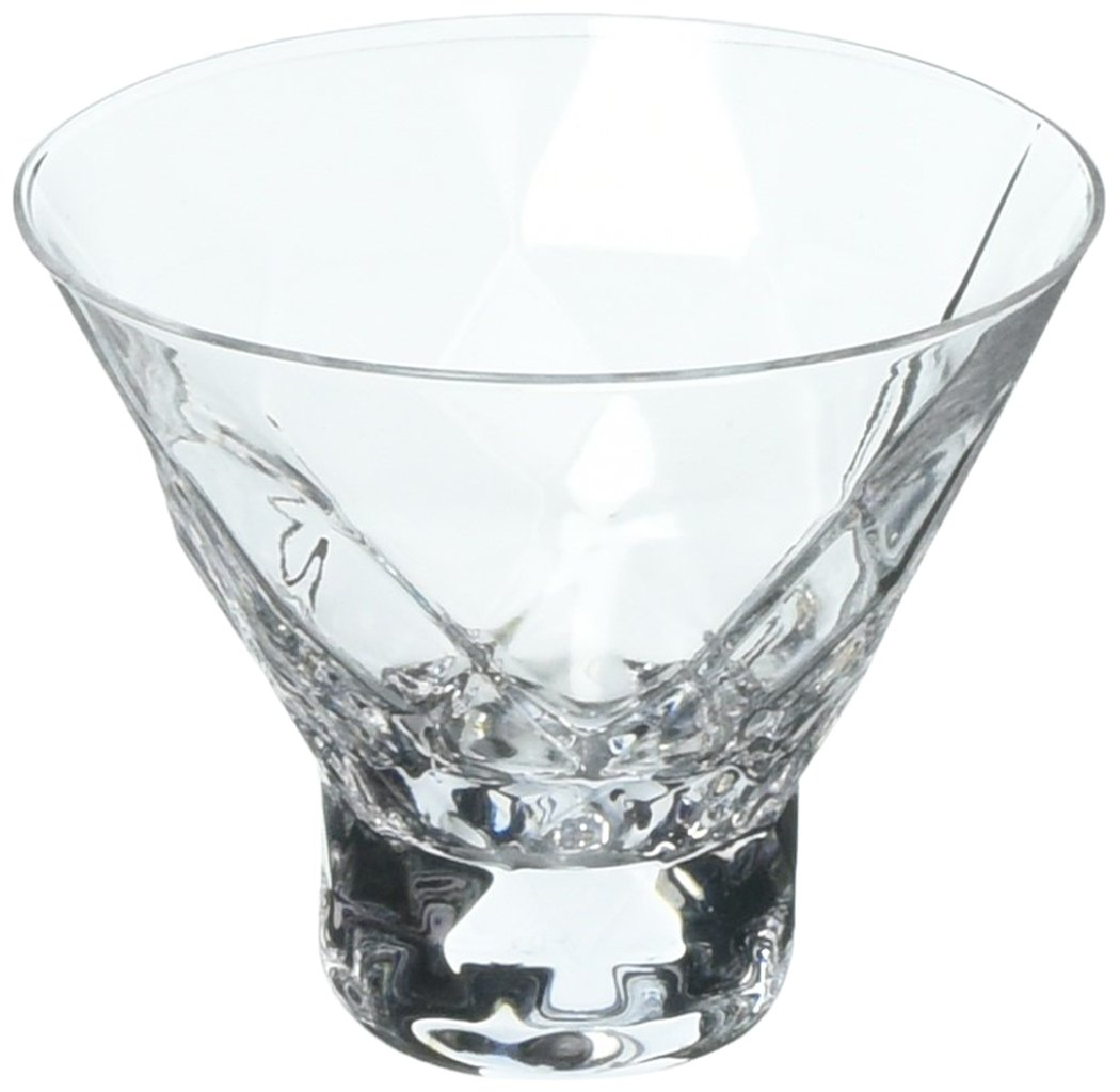 Viski 5249 Raye: Gem Crystal Martini Glasses, Clear