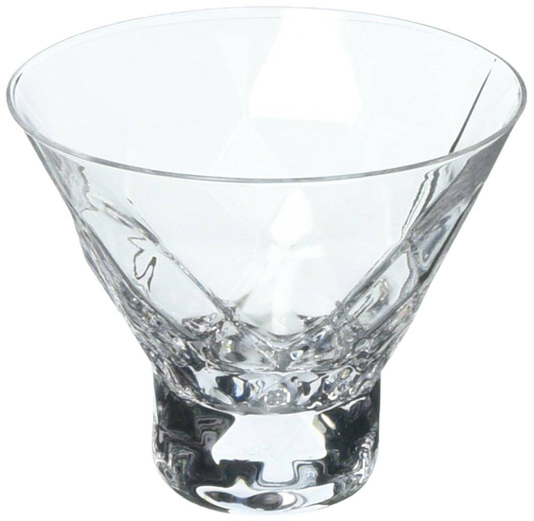 Viski 5249 Raye: Gem Crystal Martini Glasses, Clear