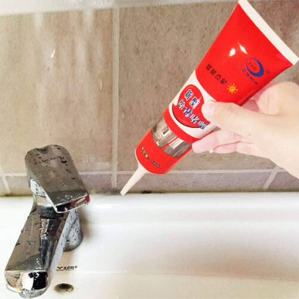 FakMe Mold Mildew Cleaner, All-Purpose Mold Removal Gel Cleaner Mold Removal Ceramic Tile Pool in Addition,to Mold Mildew Cleaner Wall for Bathroom Kitchen Removal Cream (0.3lb, Red)
