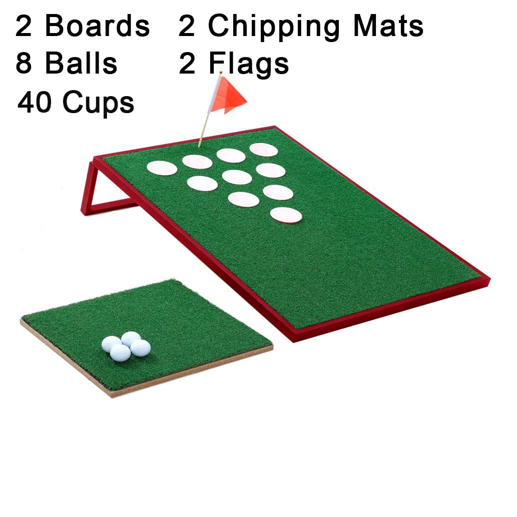SPRAWL Golf Pong Set Chip Pong Exciting Golf Game for Golf Enthusiasts and Beginners Red Golf Cornhole for Beach Office Backyard Clubhouse by SPRAWL