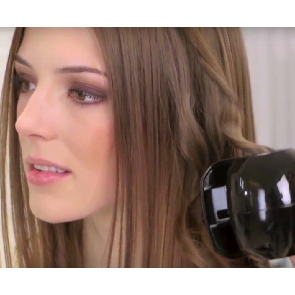 Velform Instant Curls - Rizador de pelo automático, máquina para hacer ondas, con 3 ajustes de calor, 4 ajustes de temporizador, de cerámica turmalina.