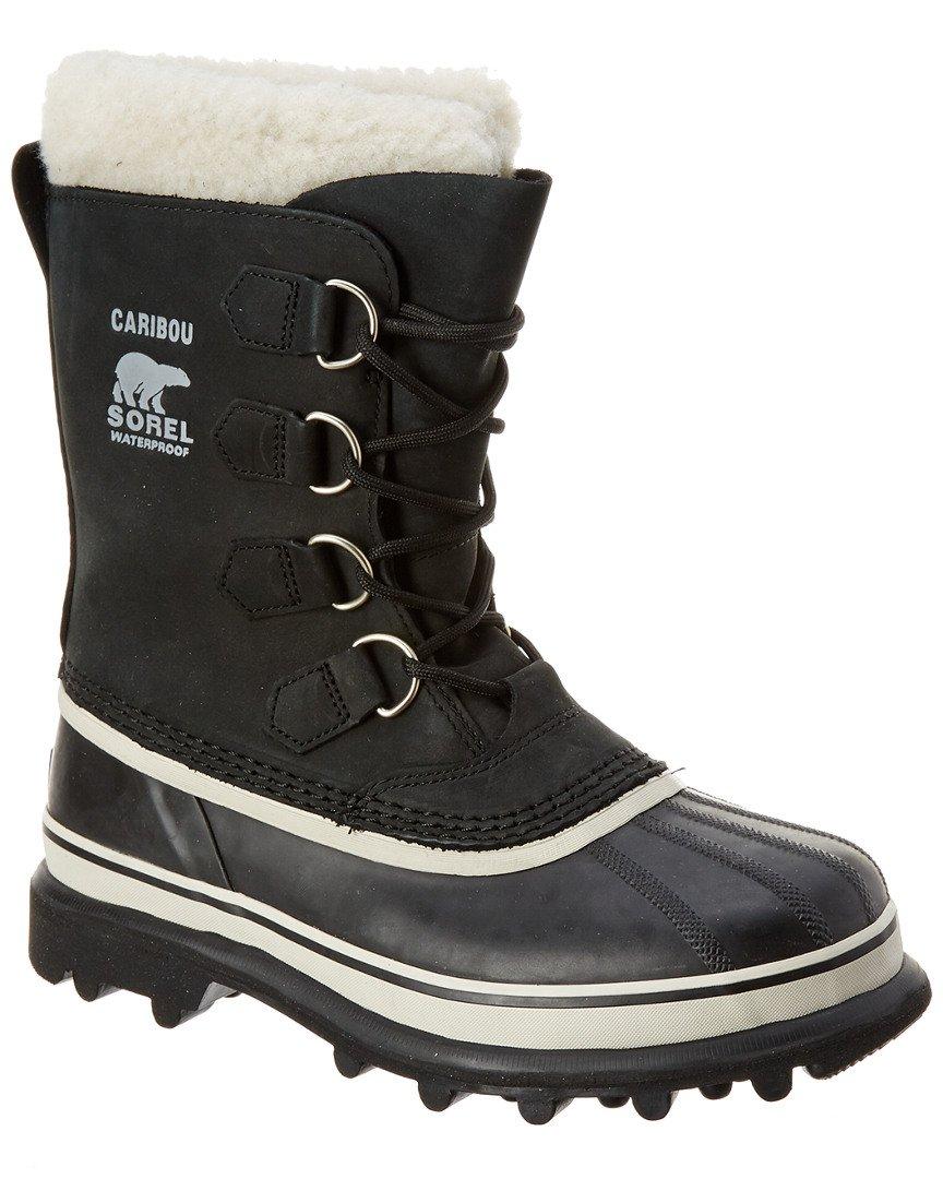 Sorel Women's Caribou NL1005 Boot,Black/Stone,8 M