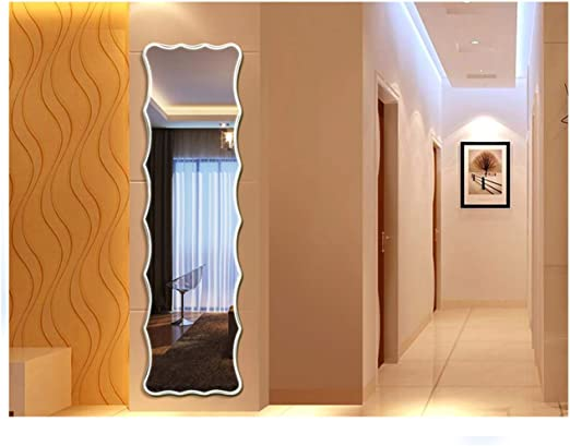 Large Full Length Wall Mirror Mounted Bedroom Hanging Decor Rectangle Frameless