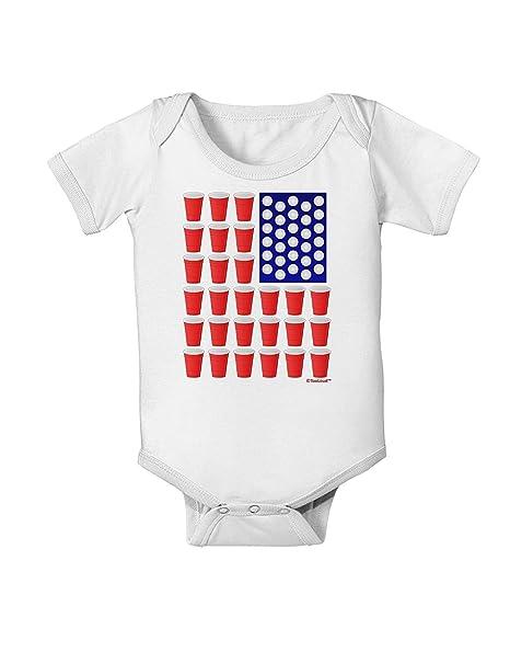 Amazon.com: Beer Pong Bandera bebé Romper Bodysuit Jumpsuit ...