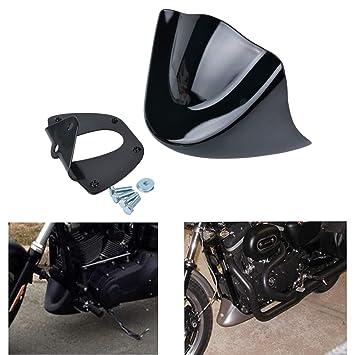 NATGIC - Alerón delantero para Harley Davidson Sportster 883 XL1200 2004 - 2014, ABS negro brillante + soporte de metal: Amazon.es: Coche y moto