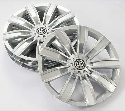 Volkswagen 5na071457a Radkappen 4 Stück Radblenden 17 Zoll Radzierblenden Radzierkappen Stahlfelgen Brillantsilber Auto