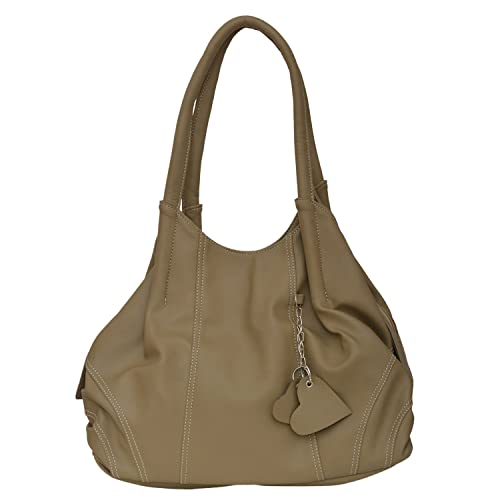 e682b606998b FD Fashion Soft Women s Leather Tote Casual Formal College Hidesign Fancy  Bag (Beige)